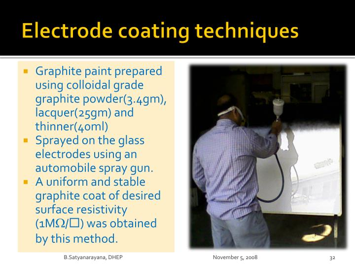 Electrode coating techniques