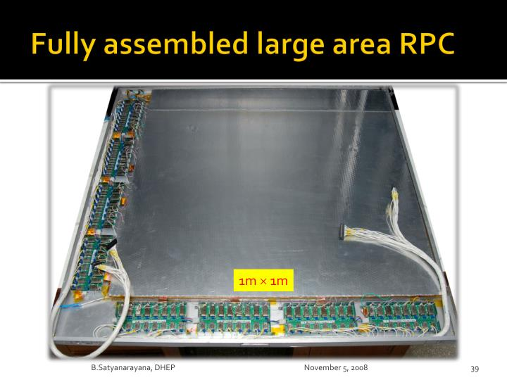 Fully assembled large area RPC