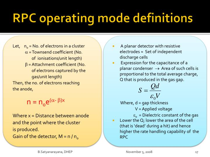 RPC operating mode definitions