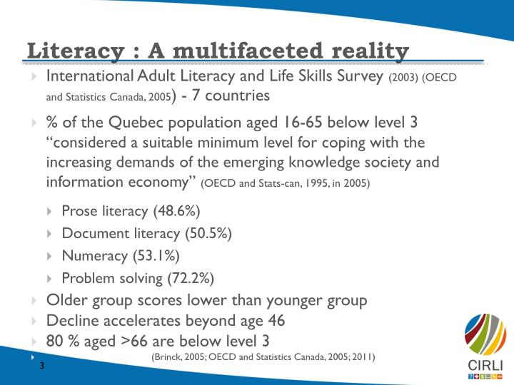 Literacy a multifaceted reality