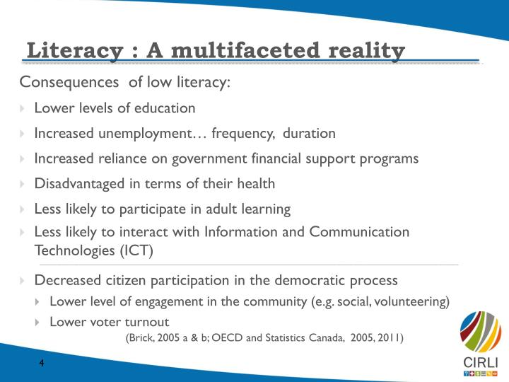 Literacy : A multifaceted reality