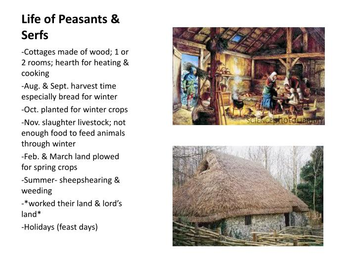 Life of Peasants & Serfs