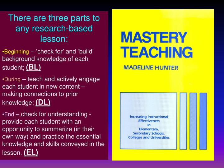 There are three parts to any research-based lesson: