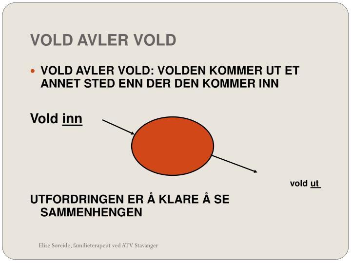 VOLD AVLER VOLD