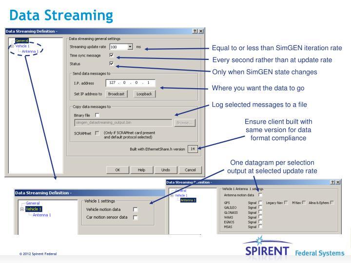 Data Streaming