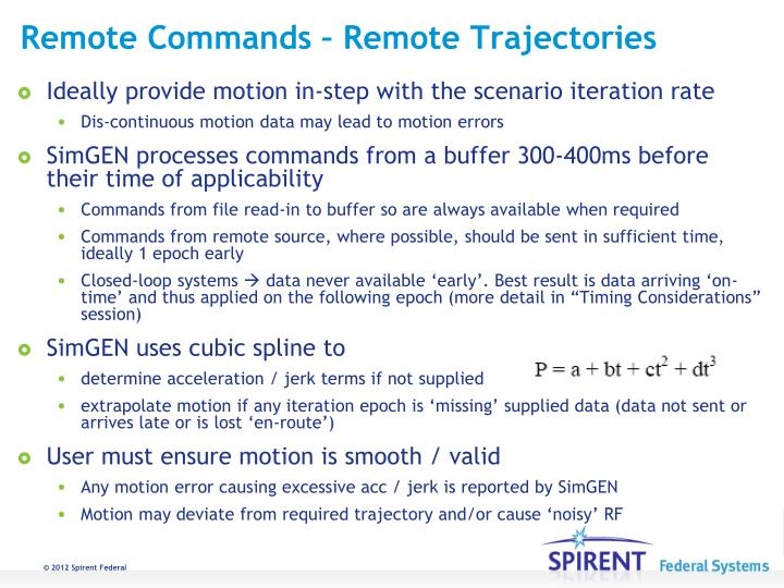 Remote Commands – Remote Trajectories