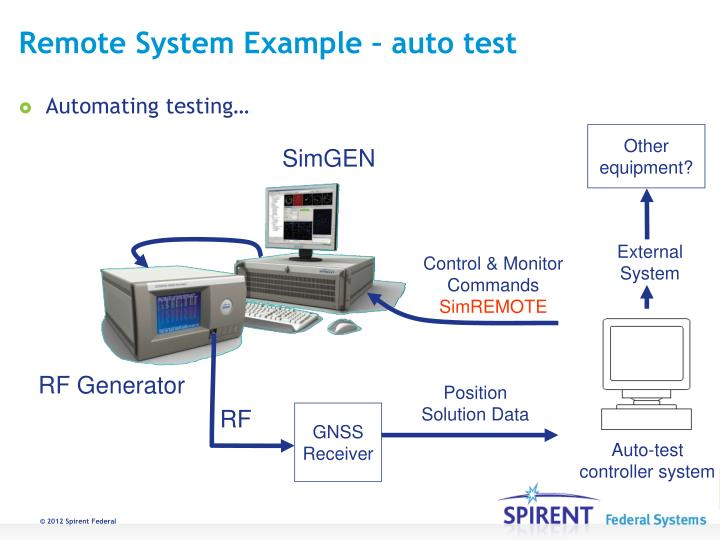 Remote System Example – auto test