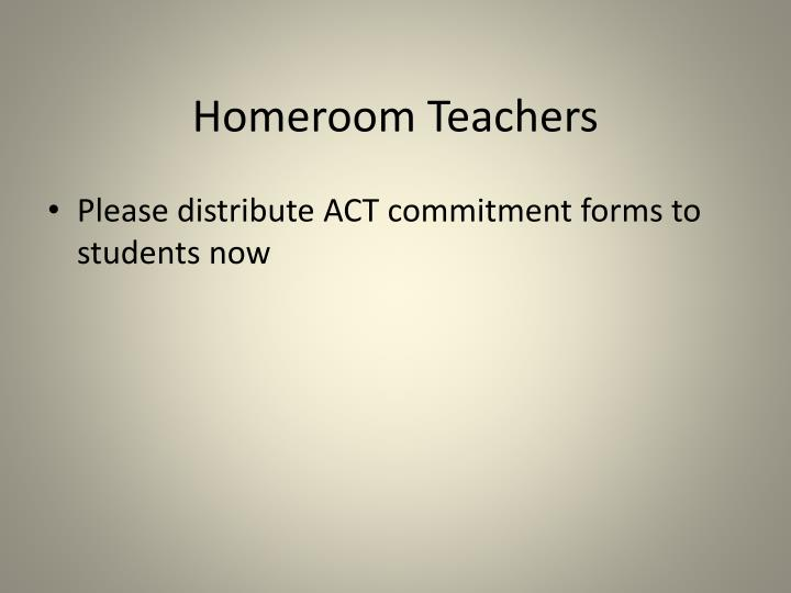 Homeroom Teachers