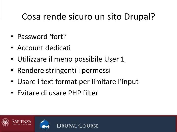 Cosa rende sicuro un sito Drupal?