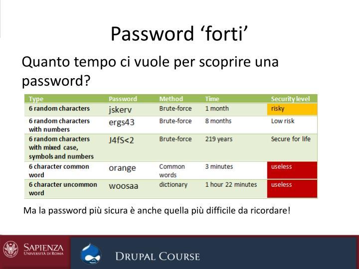 Password 'forti'