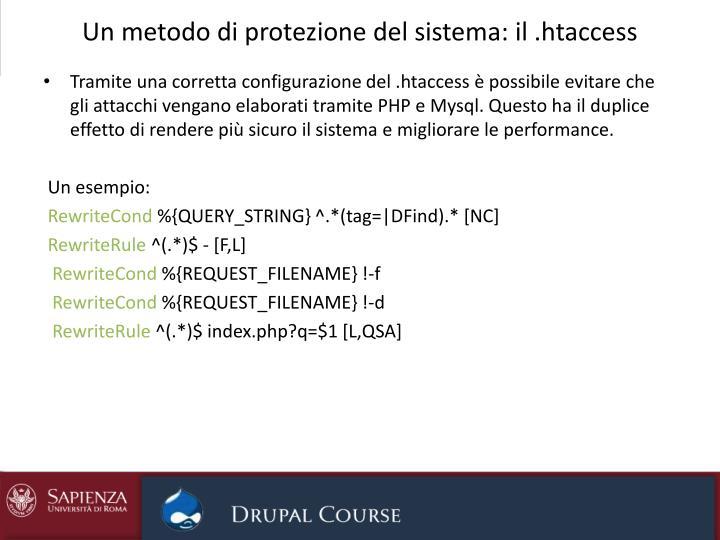 Un metodo di protezione del sistema: il .htaccess