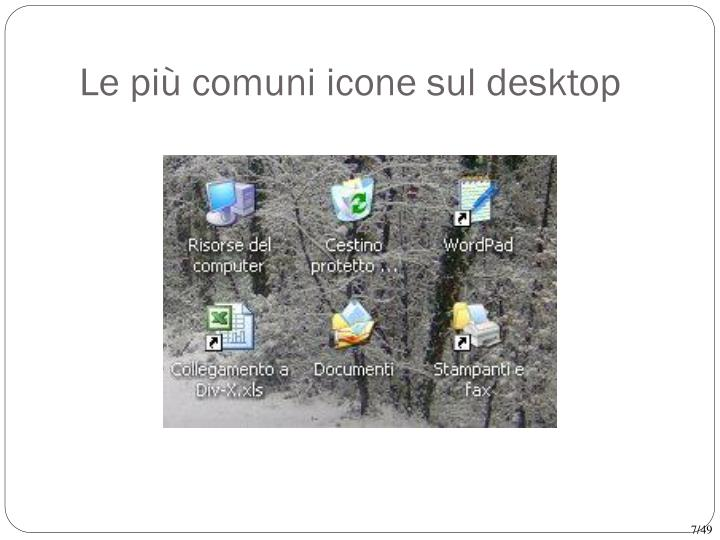 Le più comuni icone sul desktop