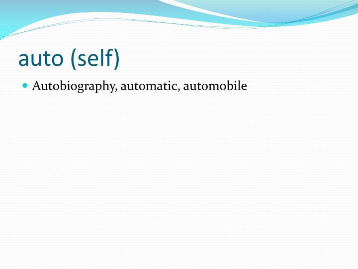 auto (self)