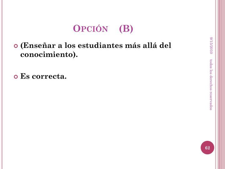 Opción