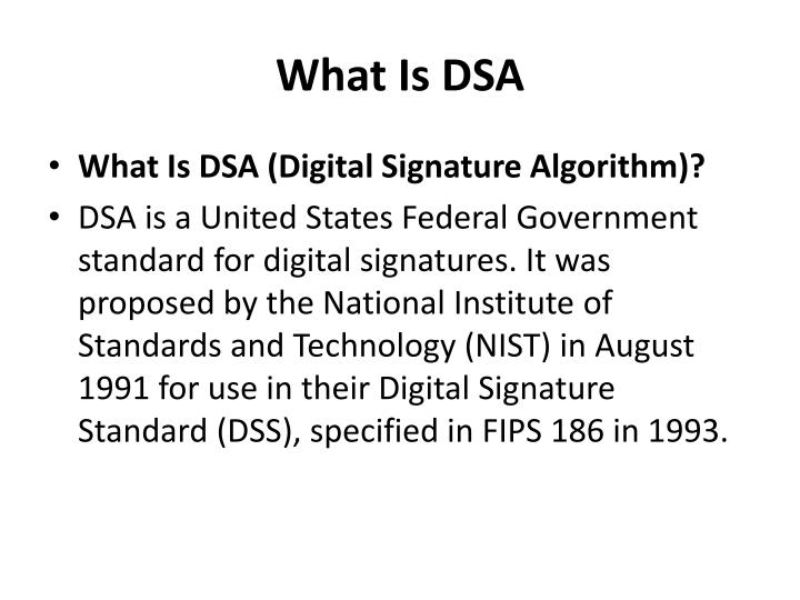 What Is DSA