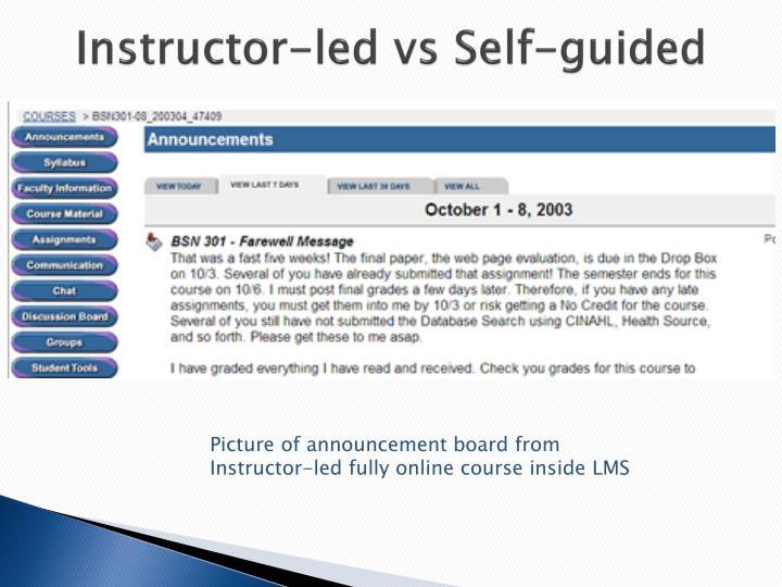 Instructor-led