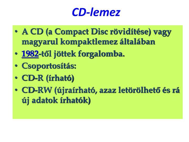 CD-lemez