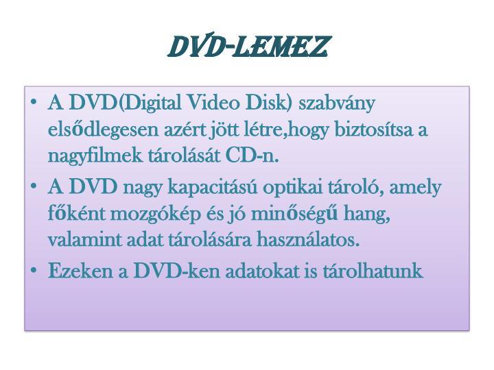 DVD-lemez