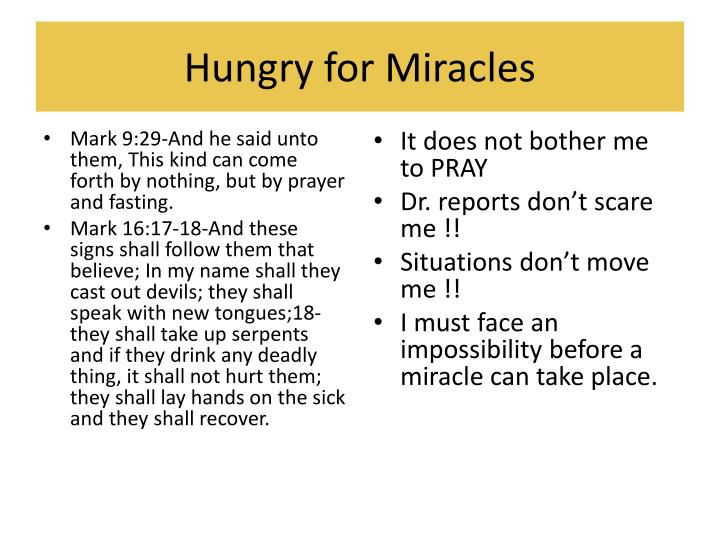 Hungry for Miracles