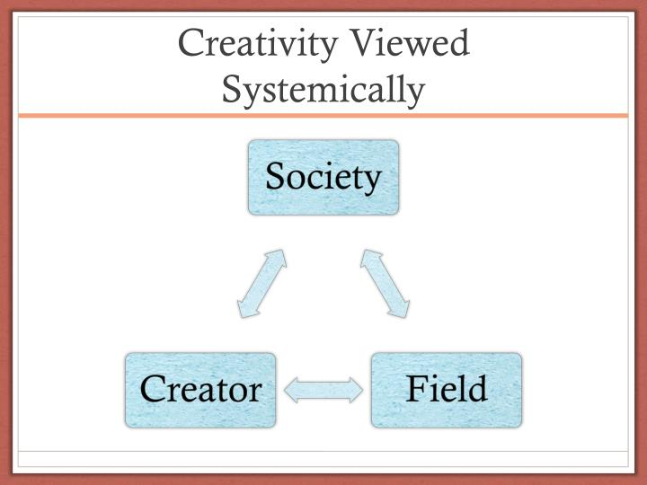 Creativity viewed systemically