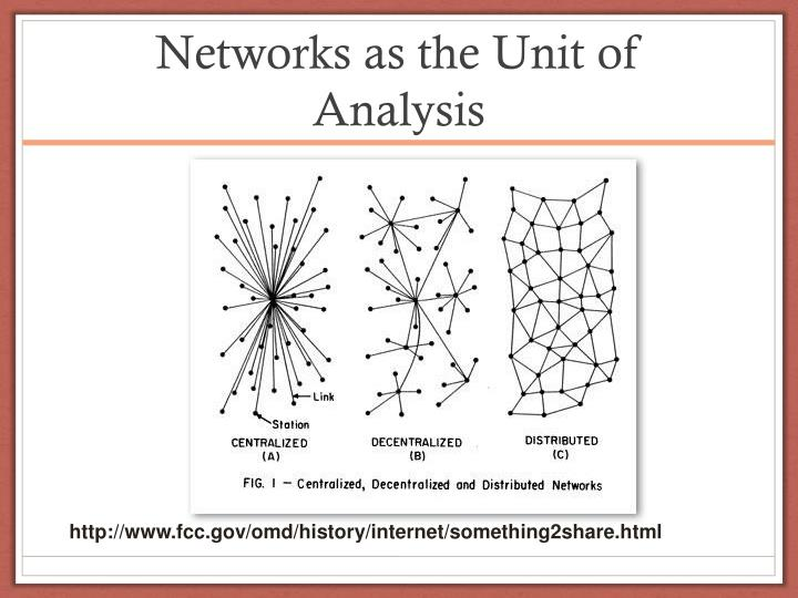Networks as the Unit of Analysis