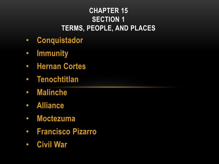 Chapter 15 section 1 terms people and places