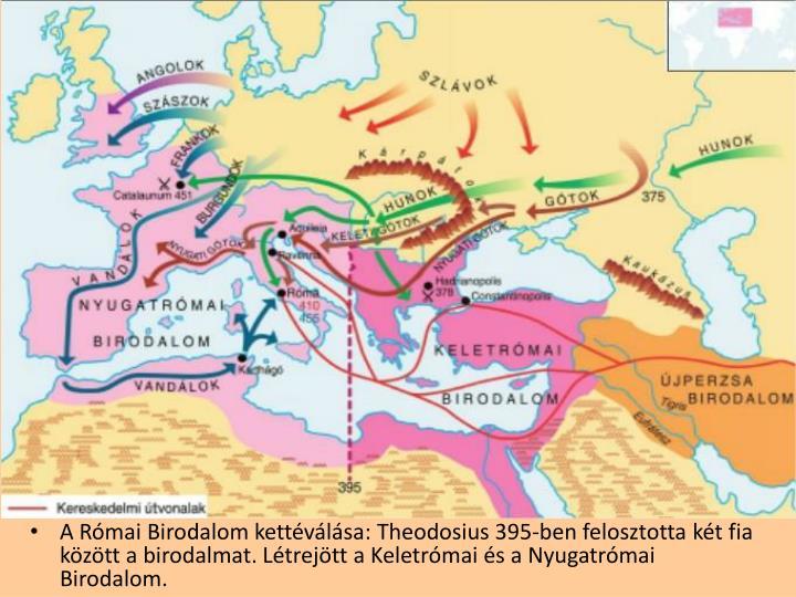A Római Birodalom kettéválása: