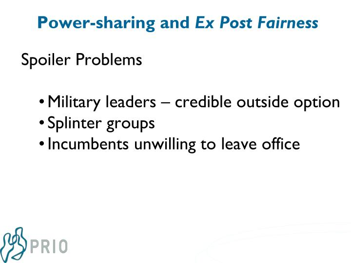 Power-sharing and