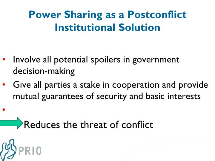 Power Sharing as a