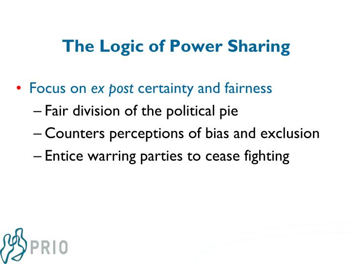 The Logic of Power Sharing