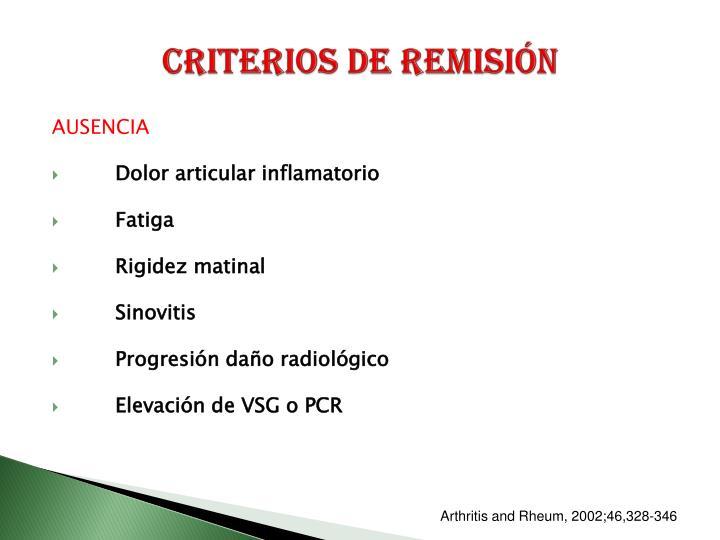 Criterios de remisión