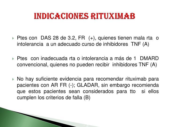 Indicaciones Rituximab