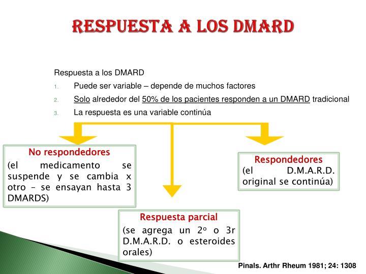 Respuesta a los DMARD