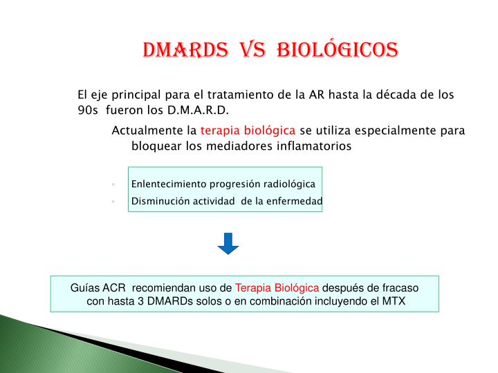 DMARDS  Vs  biológicos