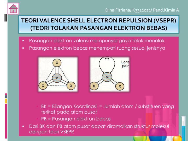 TEORI VALENCE SHELL ELECTRON REPULSION (VSEPR)