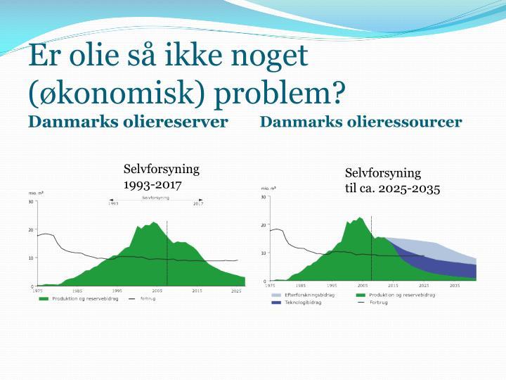 Er olie så ikke noget (økonomisk) problem?