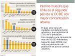 informe muestra que chile es el segundo pa s de la ocde con mayor concentraci n urbana