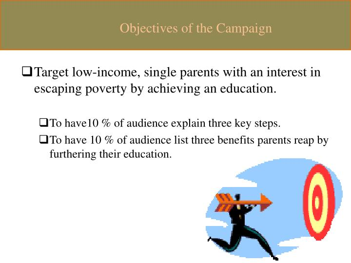 Objectives of the Campaign
