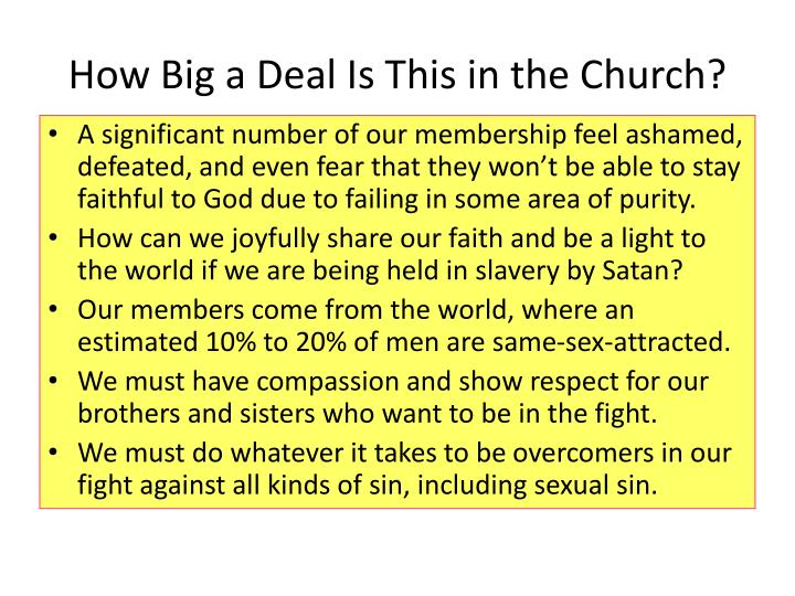 How Big a Deal Is This in the Church?