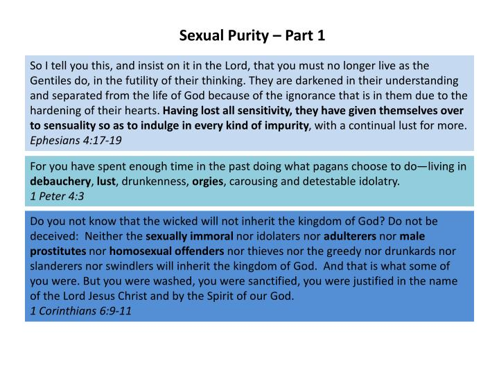 Sexual Purity – Part 1