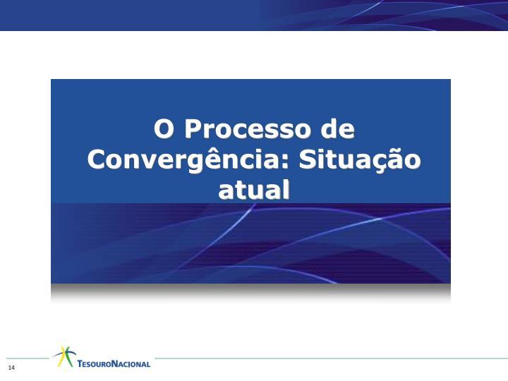 O Processo de Convergência: Situação atual