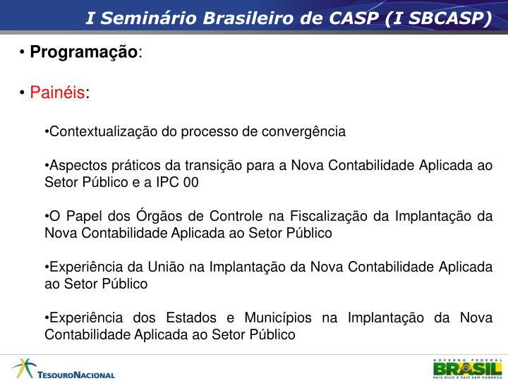 I Seminário Brasileiro de CASP (I SBCASP)