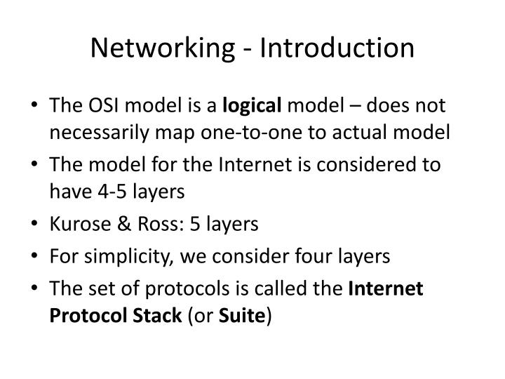 Networking - Introduction
