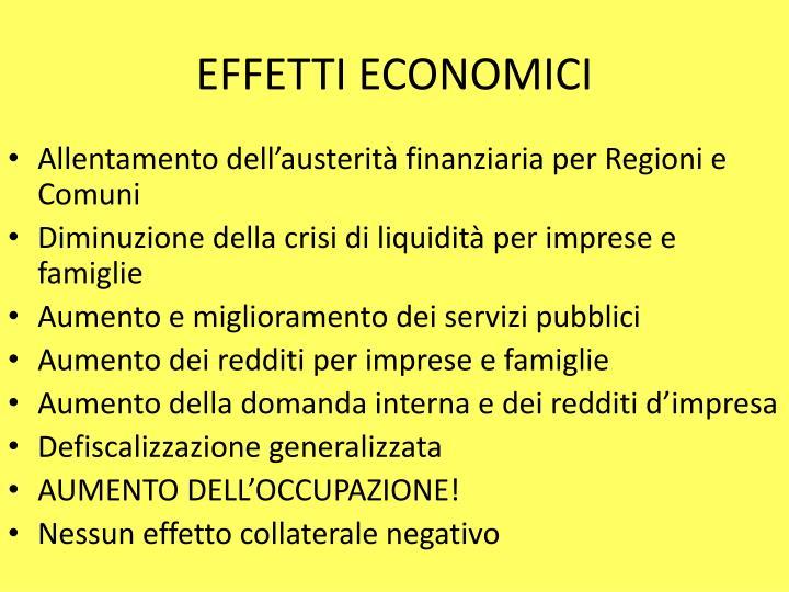 EFFETTI ECONOMICI