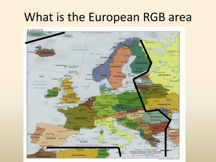 What is the european rgb area