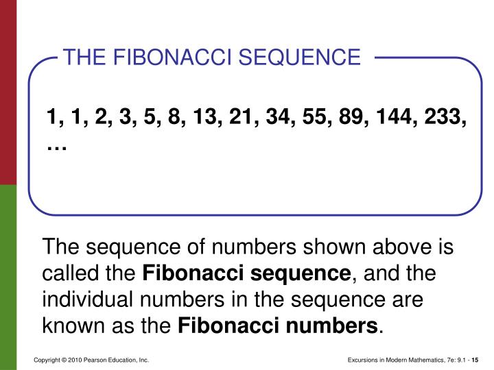 The sequence of numbers shown above is called the