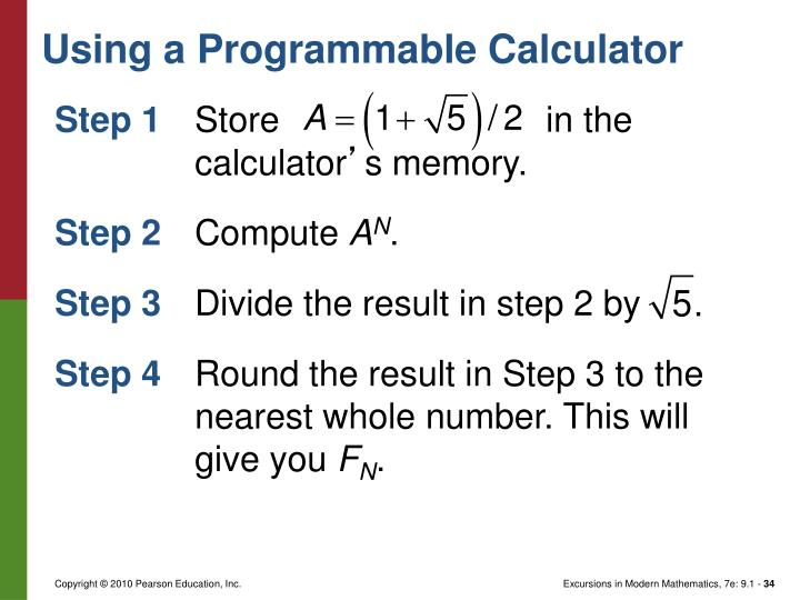 Using a Programmable Calculator
