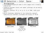 er detection color space projection