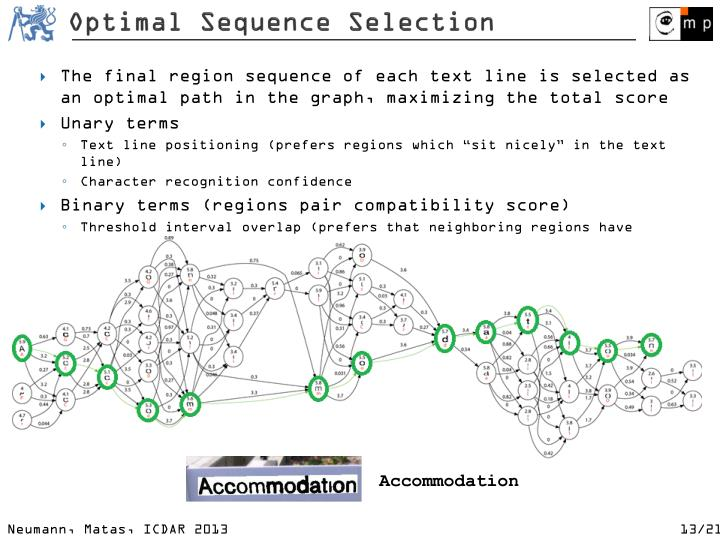 Optimal Sequence Selection