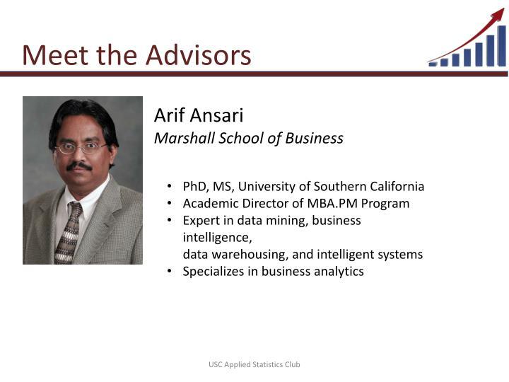 Meet the Advisors